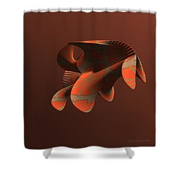 Abstract 351 Shower Curtain