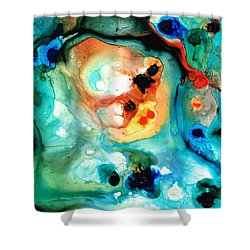 Abstract 5 - Abstract Art By Sharon Cummings Shower Curtain by Sharon Cummings