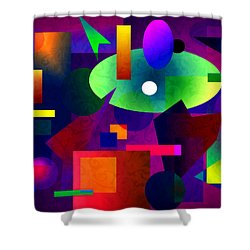 Abstract 74 Shower Curtain