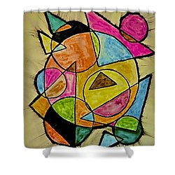 Abstract 89-004 Shower Curtain