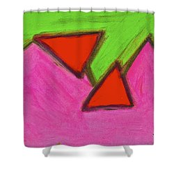 Abstract 92-002 Shower Curtain