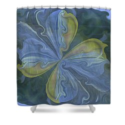 Abstract A023 Shower Curtain by Maria Urso