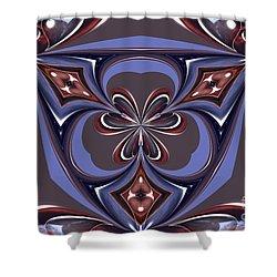 Abstract A027 Shower Curtain by Maria Urso
