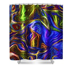 Abstract Series A3 Shower Curtain