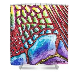 Abstract Animal Print Shower Curtain by Shana Rowe Jackson