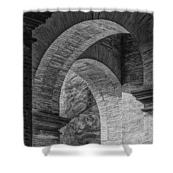 Abstract Arches Colosseum Mono Shower Curtain
