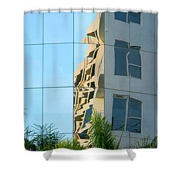 Shower Curtain featuring the photograph Abstract Architectural Shapes by Mariarosa Rockefeller