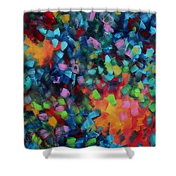 Abstract Art Bold Colorful Modern Art Original Painting Color Blast By Madart Shower Curtain by Megan Duncanson