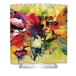Abstract Art Shower Curtain by Catf