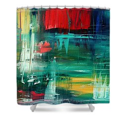 Abstract Art Colorful Original Painting Bold And Beautiful By Madart Shower Curtain by Megan Duncanson