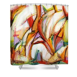 Abstract Art Forty-five Shower Curtain