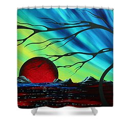 Abstract Art Landscape Seascape Bold Colorful Artwork Serenity By Madart Shower Curtain by Megan Duncanson