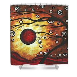 Abstract Art Original Colorful Painting Silent Whispers By Madart Shower Curtain by Megan Duncanson