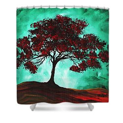 Abstract Art Original Colorful Tree Painting Passion Fire By Madart Shower Curtain by Megan Duncanson