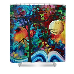 Abstract Art Original Enormous Bold Painting Essence Of The Earth I By Madart Shower Curtain by Megan Duncanson
