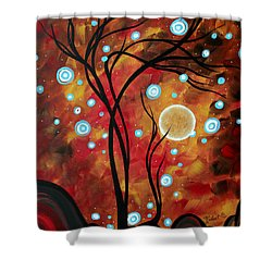 Abstract Art Original Landscape Circle Painting Fairy Dust By Madart Shower Curtain by Megan Duncanson
