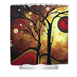 Abstract Art Original Landscape Painting Catch The Rising Sun By Madart Shower Curtain by Megan Duncanson