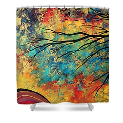 Abstract Art Original Landscape Painting Go Forth I By Madart Studios Shower Curtain by Megan Duncanson