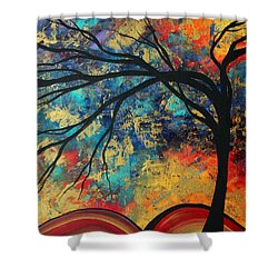 Abstract Art Original Landscape Painting Go Forth II By Madart Studios Shower Curtain by Megan Duncanson