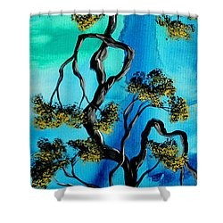 Abstract Art Original Landscape Painting Life Is A Maze By Madart Shower Curtain by Megan Duncanson