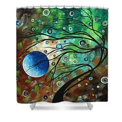 Abstract Art Original Landscape Painting Mint Julep By Madart Shower Curtain by Megan Duncanson