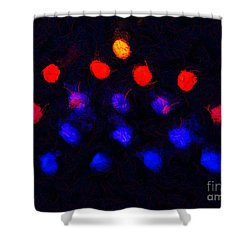 Abstract Balls #2 Shower Curtain by Pixel Chimp