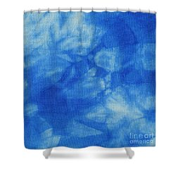 Abstract Batik Pattern Shower Curtain by Kerstin Ivarsson