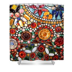 Abstract Beads Shower Curtain