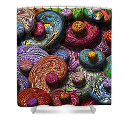 Abstract - Beans Shower Curtain by Mike Savad