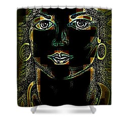 Shower Curtain featuring the digital art Abstract Beauty by Greg Moores