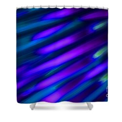 Abstract Blue Green Pink Diagonal Shower Curtain by Marvin Spates