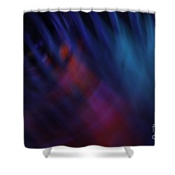 Abstract Blue Red Green Diagonal Blur Shower Curtain by Marvin Spates