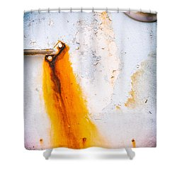 Shower Curtain featuring the photograph Abstract Boat Detail by Silvia Ganora