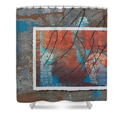 Abstract Branch Collage Shower Curtain by Anita Burgermeister