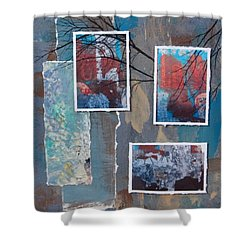 Abstract Branch Collage Trio Shower Curtain by Anita Burgermeister
