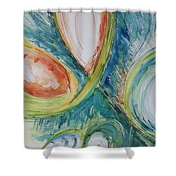 Abstract Chaos Shower Curtain