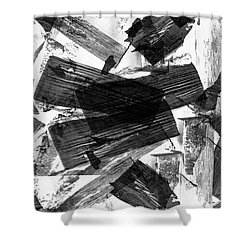 Abstract Chunky Shower Curtain