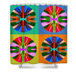 Abstract Circles And Squares 4 Shower Curtain by Amy Vangsgard