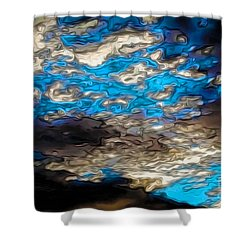 Abstract Clouds Shower Curtain