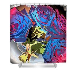 Abstract Cluster Of Roses Shower Curtain by Minding My  Visions by Adri and Ray