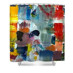 Abstract Color Relationships Lv Shower Curtain by Michelle Calkins