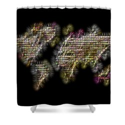 Abstract Colorful World Map Fractalius Shower Curtain by Georgeta Blanaru