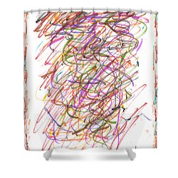Abstract Confetti Celebration Shower Curtain by Joseph Baril