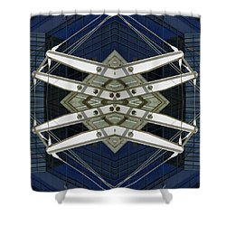 Abstract Construction Shower Curtain by Rick Mosher
