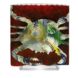 Abstract Crab Shower Curtain
