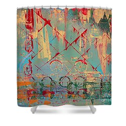 Abstract Cruiser Shower Curtain