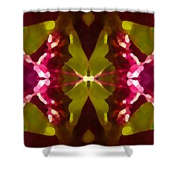Abstract Crystal Butterfly Shower Curtain by Amy Vangsgard