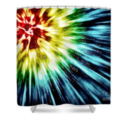 Abstract Dark Tie Dye Shower Curtain