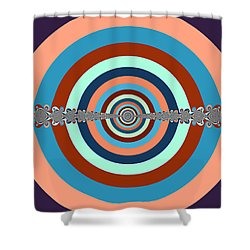 Shower Curtain featuring the digital art Abstract Dart Board by Ester  Rogers
