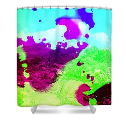 Abstract Desert Scene Shower Curtain by Alan and Marcia Socolik